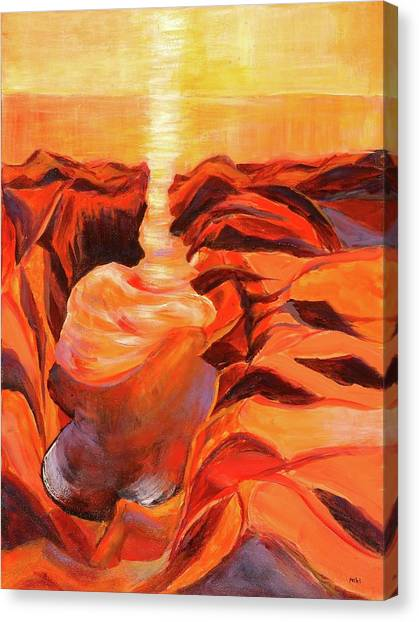 Quiet Eruption Canvas Print