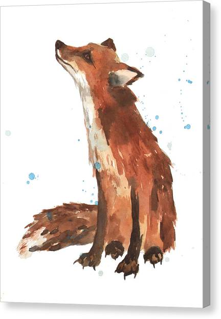 Small Mammals Canvas Print - Quiet Fox by Alison Fennell