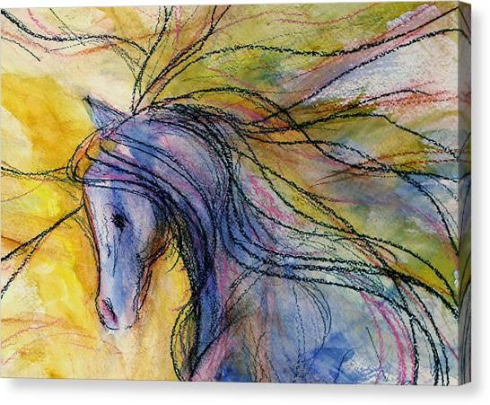 Sporthorse Canvas Print - Quiet Girl by Jennifer Fosgate