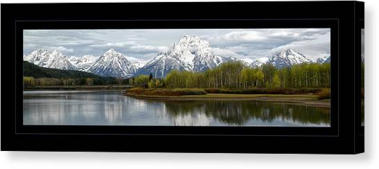 Quiet Morning At Oxbow Bend Canvas Print