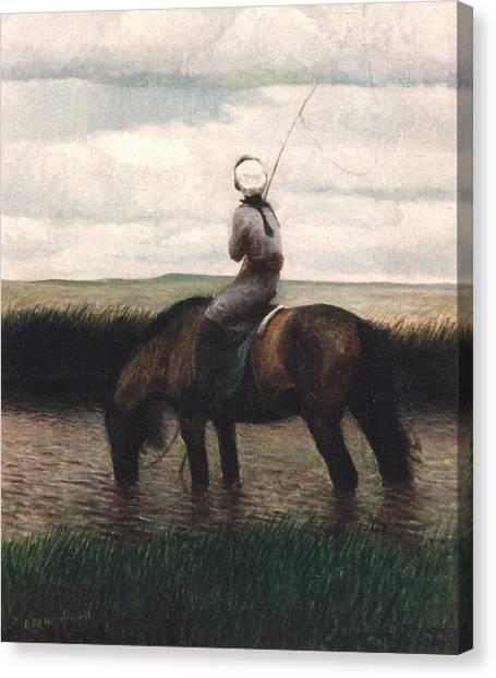 Quiet  Nailing Rivulet Canvas Print