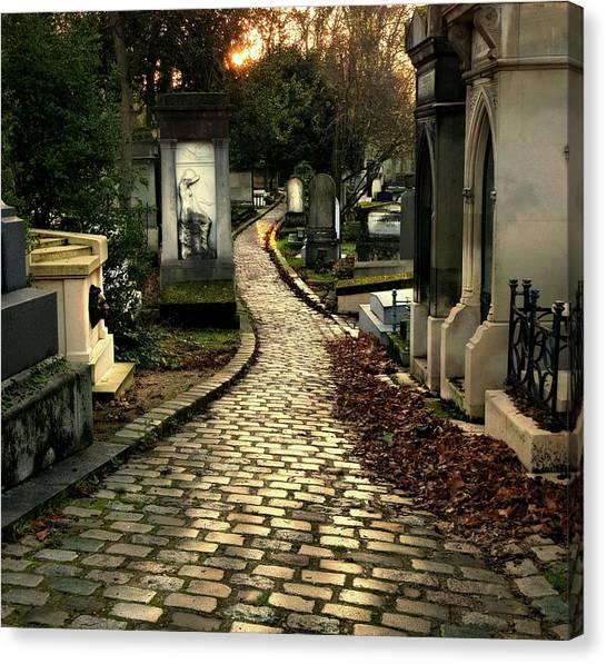Pere Lachais Cemetery Road Canvas Print