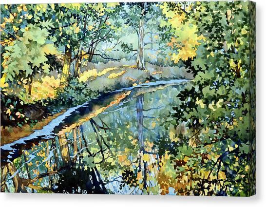 Quiet Stream Near Milk House Canvas Print