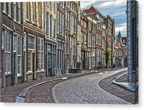 Quiet Street In Dordrecht Canvas Print