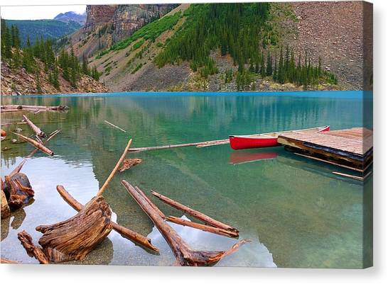 Moraine Lake I, Alberta Canvas Print