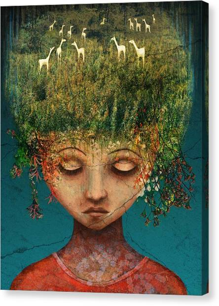 Girl Canvas Print - Quietly Wild by Catherine Swenson