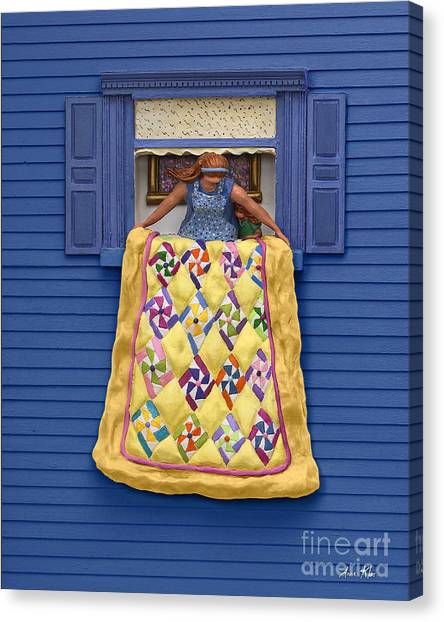 Quilted Showing Canvas Print