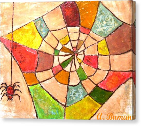 Quilted Web Canvas Print