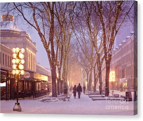 Quincy Market Stroll Canvas Print