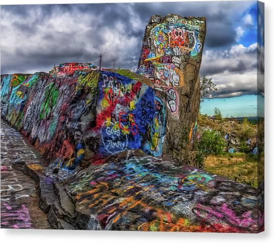 Quincy Quarries Graffiti Canvas Print