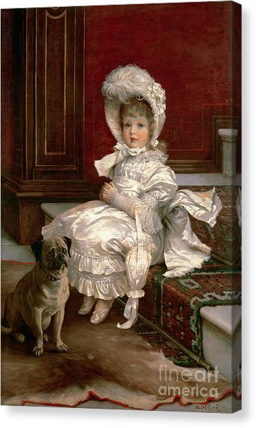 Doggy Canvas Print - Quite Ready by Philip Richard Morris