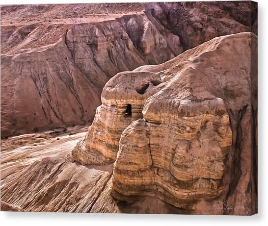 Qumran Cave 4, Israel Canvas Print