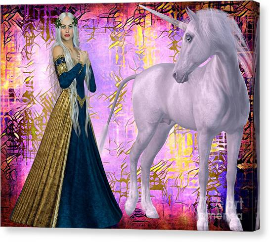 Quod Magicae Spectro Canvas Print