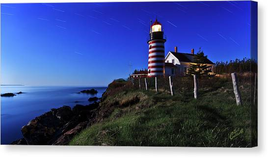 Quoddy Head By Moonlight Canvas Print
