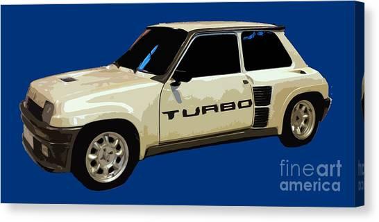 R Turbo Art Canvas Print