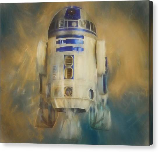 Obi-wan Kenobi Canvas Print - R2-d2 Color Warp by Dan Sproul