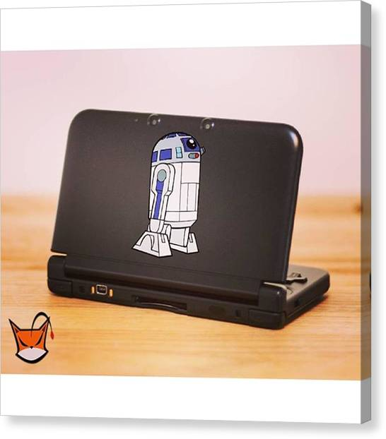 Yoda Canvas Print - R2-d2 Is Coming Back This Week! I by Vinylgraf Decals