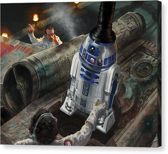 Droid Canvas Print - R2-d2 by Ryan Barger