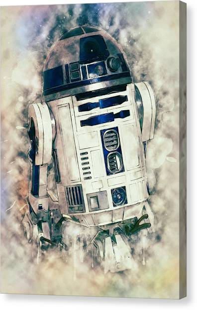 C-3po Canvas Print - R2-d2 by Zapista
