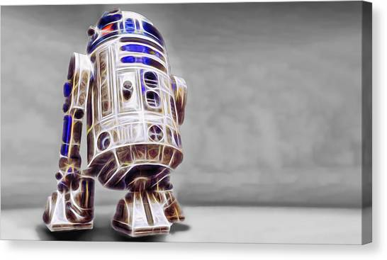 R2-d2 Canvas Print - R2 Feeling Good by Scott Campbell