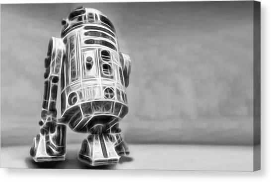 R2-d2 Canvas Print - R2 Feeling Lonely by Scott Campbell