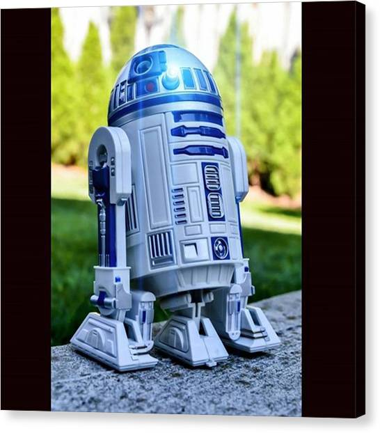Droid Canvas Print - R2 Was Told By Leia To Stay Put And by Russell Hurst