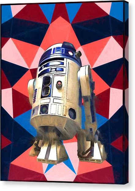 Obi-wan Kenobi Canvas Print - R2d2 by Dan Sproul
