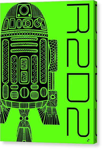 Droid Canvas Print - R2d2 - Star Wars Art - Green by Studio Grafiikka
