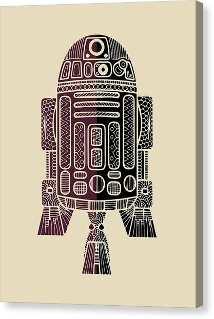 Droid Canvas Print - R2d2 - Star Wars Art - Purple by Studio Grafiikka
