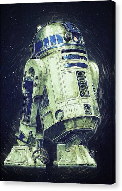 C-3po Canvas Print - R2d2 Star Wars by Semih Yurdabak