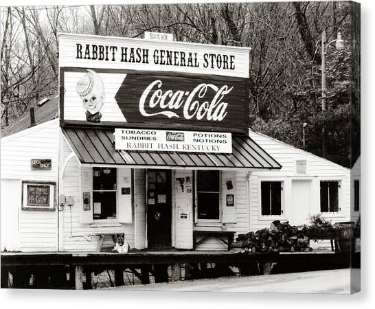 Rabbits Canvas Print - Rabbit Hash General Store- Photogaphy By Linda Woods by Linda Woods