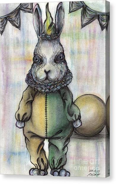 Rabbit Pierrot Canvas Print