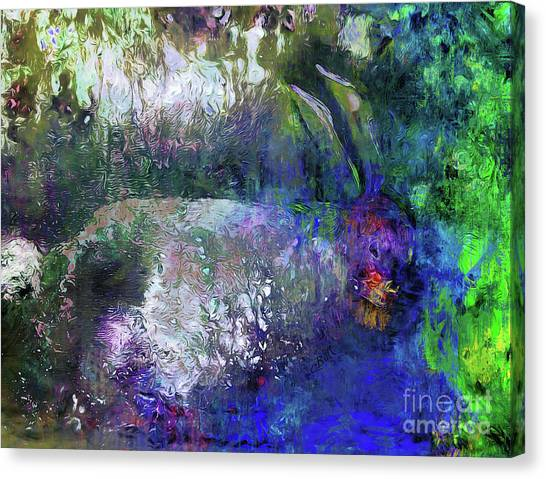 Rabbit Reflection Canvas Print