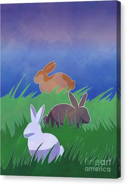 Rabbits Rabbits Rabbits Canvas Print