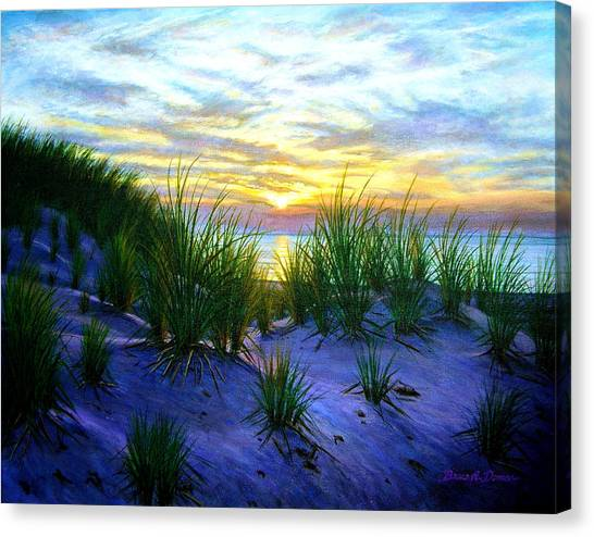 Race Point Dune Sunset Canvas Print by Bruce Dumas