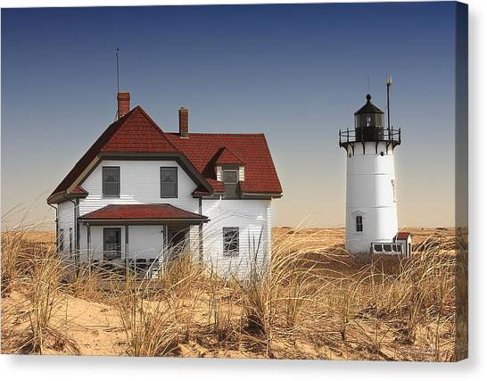 Race Point Lighthouse Cape Cod Canvas Print by Dapixara Art