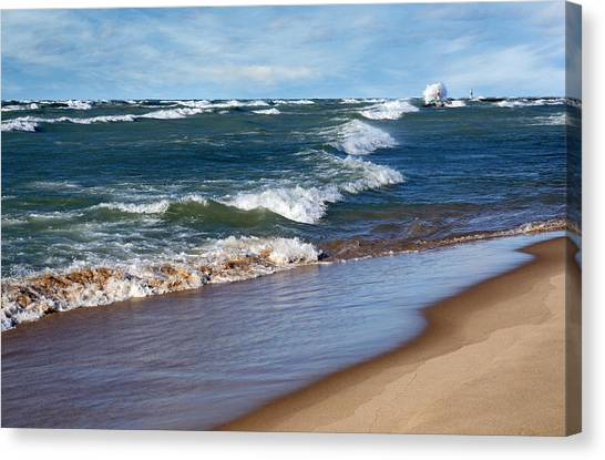Race To Shore Canvas Print