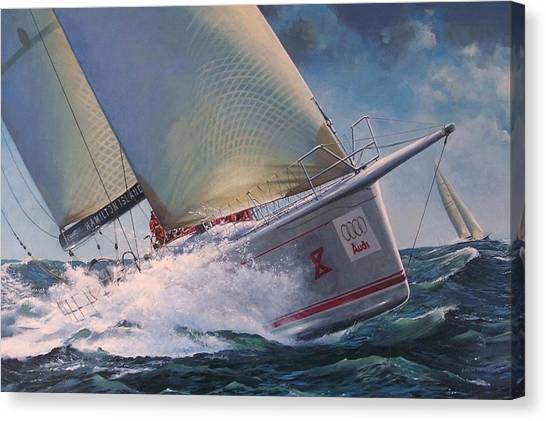 Race To The Finish - Wild Oats X Canvas Print