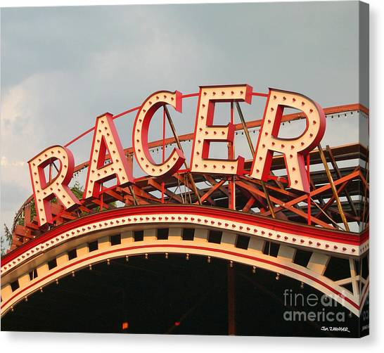 Racer Coaster Kennywood Park Canvas Print