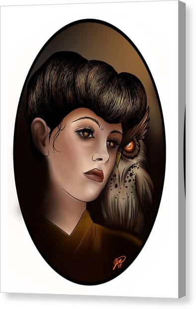 Bladerunner Canvas Print - Rachael  by Jennie Evans