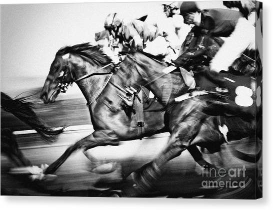 Racing Horses Canvas Print