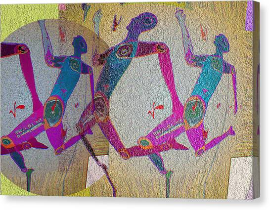 Racing Canvas Print by Noredin Morgan