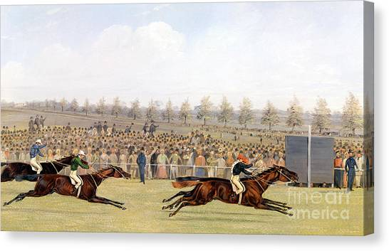Finish Line Canvas Print - Racing Scene by Henry Thomas Alken