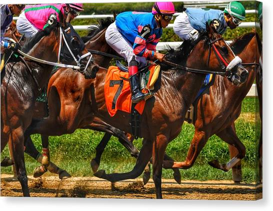 Racing Tight Canvas Print