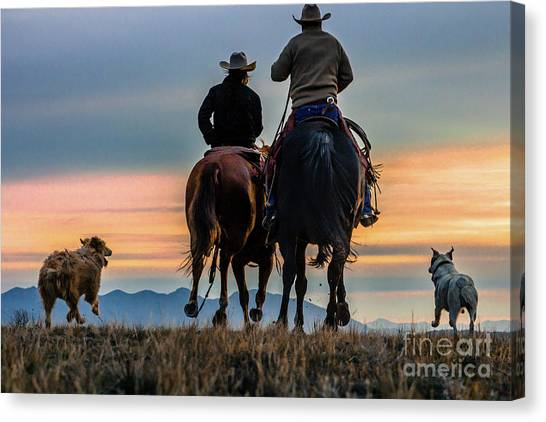 Racing To The Sun Wild West Photography Art By Kaylyn Franks Canvas Print