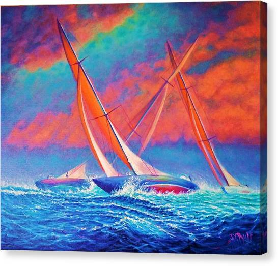 Racing Wedge Canvas Print