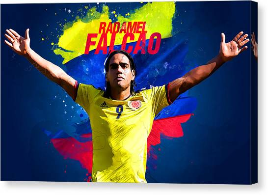 Mls Canvas Print - Radamel Falcao by Semih Yurdabak