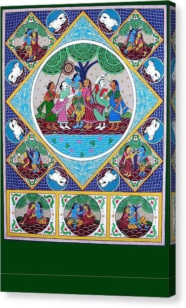 Radha Krisna Canvas Print by Rabindra Meher