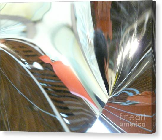 Radial Reflection 2 Canvas Print by Donna McLarty