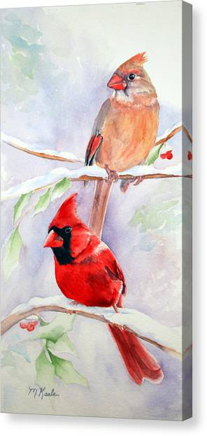 Radiance Of Cardinals Canvas Print